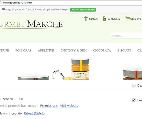 Cashback chrome extension